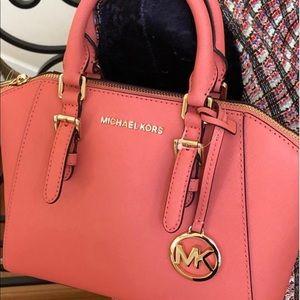 "Free Gift Michael Kors Grapefruit In ""Ciara"" Purse"
